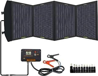 ECO-WORTHY 120w 折り畳み式ソーラーパネル ソーラーパネル4枚搭載 2USBポート 防水 USB自動検知機能搭載 軽量 コンパクト スマホなどへ急速充電 防災グッズ キャンプ/地震/災害時ソーラー充電可能【一年間保証付き】