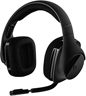 Logitech G533 Auriculares Gaming Inalámbricos, 7.1 Surround DTS Headphone:X, Transductores 40mm Pro-G, Micrófono, 2, 4 GHz Inalámbrico, Batería de 15 Horas, PC/Mac, Negro