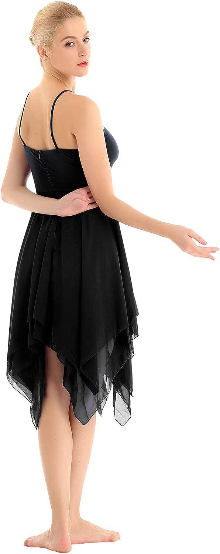 inlzdz Robe caraco asym/étrique /à 2 couches pour femme