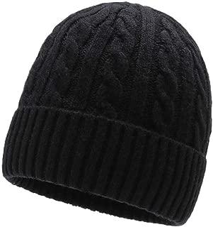 New Winter hat Warm Twist Wool hat Thicken Wild Men's hat Simple Plus Velvet Knit hat