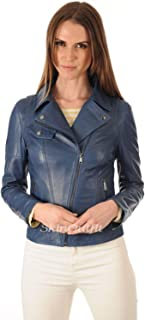 SKINOUTFIT Womens Leather Jackets Motorcycle Bomber Biker Genuine Lambskin 94
