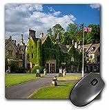 3dRose Manor House Hotel, castillo Combe, Cotswolds, Wiltshire, Inglaterra alfombrilla de ratón, 8'x 8' (MP 209287_ 1)