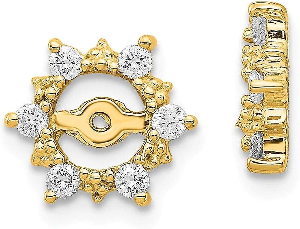 14K Fancy Diamond Earring Jacket Mountings