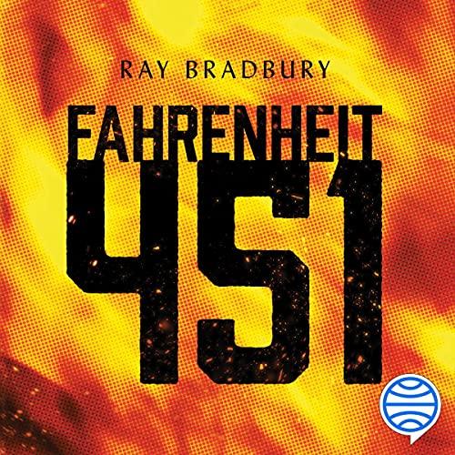 Diseño de la portada del título Fahrenheit 451