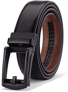Men's Belt, Slide Ratchet Belt for Men Genuine Leather, Trim to Fit