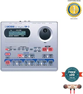 Boss DR-3 DR. RHYTHM Drum Machine includes Free Wireless Earbuds - Stereo Bluetooth In-ear and 1 Year Everything Music Extended Warranty