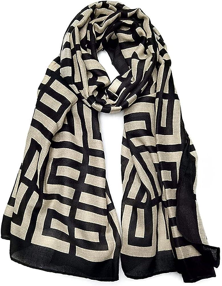 FINIZO Women's Scarves Lady Light Soft Fashion Solid Scarf Wrap Shawl for All Season