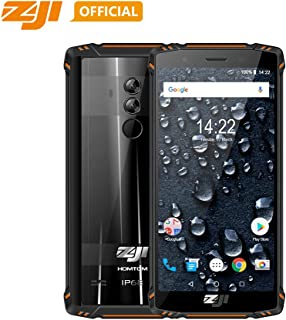 Original ZOJI Z9 6GB RAM 64GB ROM IP68 5500mAh Waterproof Smartphone Heart Rate Android 8.1 5.7inch Face ID Mobile Phone Fingerprint FDDLTE 4G Helio P23 MTK6763 Octa-Core 21MP Camera Cell Phone-Orange