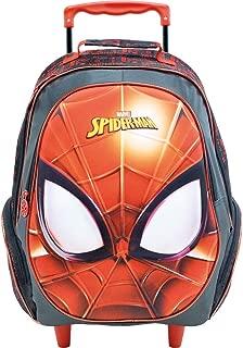 Mala com Rodas 16 Spider Man Masked- 8640 - Artigo Escolar Spider-Man, Vermelho