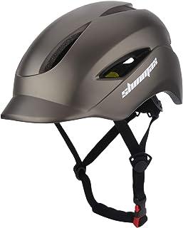 comprar comparacion Shinmax Casco de Bicicleta con Casco de Bicicleta Certificado CE y Casco de Seguridad Trasero Ligero y Ajustable para Homb...