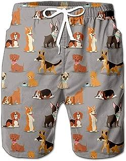 Quick Dry Fantasy with Cartoon Fox Or Cat Flowers Beach Shorts Swim Trunks Board Shorts