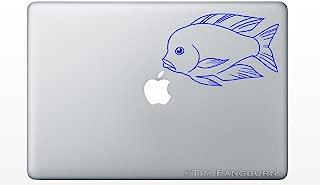 Swimming Malawi Blue Dolphin Haplochromis Moorii Cichlid Fish MacBook Laptop Vinyl Decal Sticker Aquarium Fishtank Tank Hobby