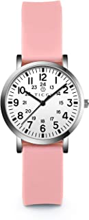 TICCI Women's Petite Watch for Medical Professionals Easy to Read Small Face, Silicone Band,...
