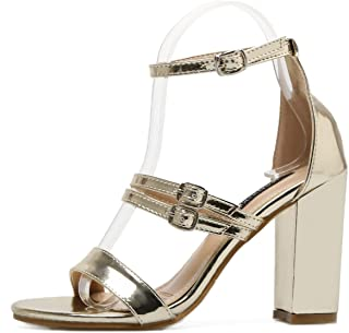 c4c01798605 Amazon.com: Gold - Heeled Sandals / Sandals: Clothing, Shoes & Jewelry
