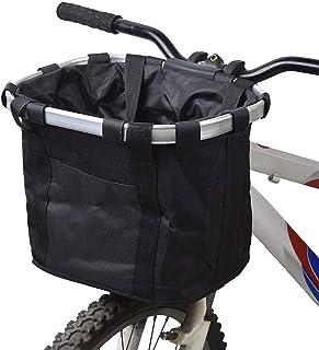 AMZ BCS Vélo Panier vélo Avant Guidon Amovible Multi Purpose Toile Sac Cycle Pet Chat Chien Transporteur Sac Portable Rang...