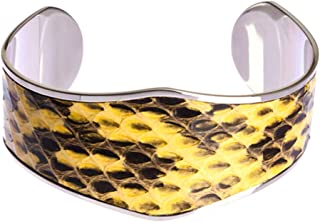 Snake Skin Surgical Stainless Steel Cutting Cuff Bangle