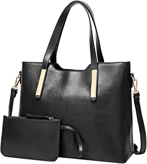MILIMIEYIK Women's Designer Top Handle Satchel Handbag Tote Bag Briefcase 2pc Set