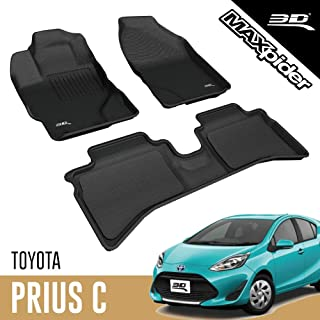 SUV Trucks PantsSaver Custom Fit Automotive Floor Mats for Toyota Prius Prime 2018 All Weather Protection for Cars Van Heavy Duty Total Protection Gray