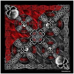 Celtic Cross and Gothic Skulls Biker Bandana