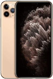 موبايل ايفون 11 Pro Max من ابل بتطبيق فيس تايم - 256 جيجابايت، RAM 4 جيجابايت، 4G LTE، ذهبي، شريحة واحدة وشريحة اتصال مدمج...