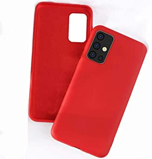 Rock Samsung Galaxy S20 Plus Case Liquid Silicone Soft Lining Red