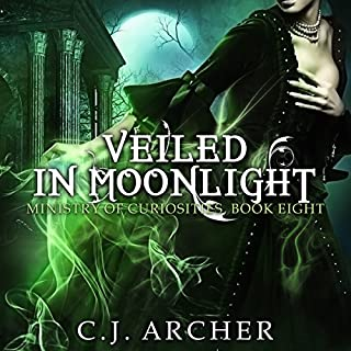 Veiled in Moonlight     The Ministry of Curiosities, Book 8              Written by:                                                                                                                                 C.J. Archer                               Narrated by:                                                                                                                                 Shiromi Arserio                      Length: 9 hrs and 49 mins     3 ratings     Overall 4.7