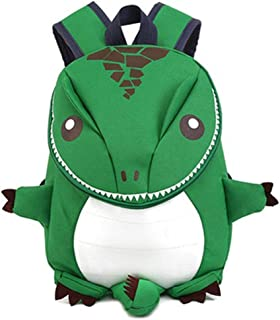 Funny Cute Design Children Kids School Bag Lightweight Animal Dinosaur Shape Kindergarten Kids Preschool Backpack - Green