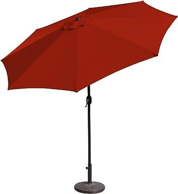 Budge Industries PATUA1100B Aluminum Patio Umbrella with Crank Lift and Tilt Function, 7-Feet, Navy
