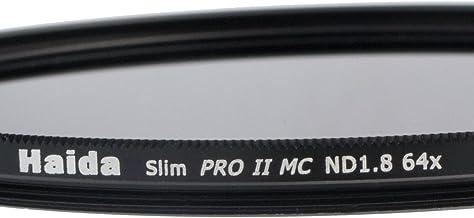 1,8 de 52mm et des bouchons objectif Pro Filtre gris mince sp/éciale ND64