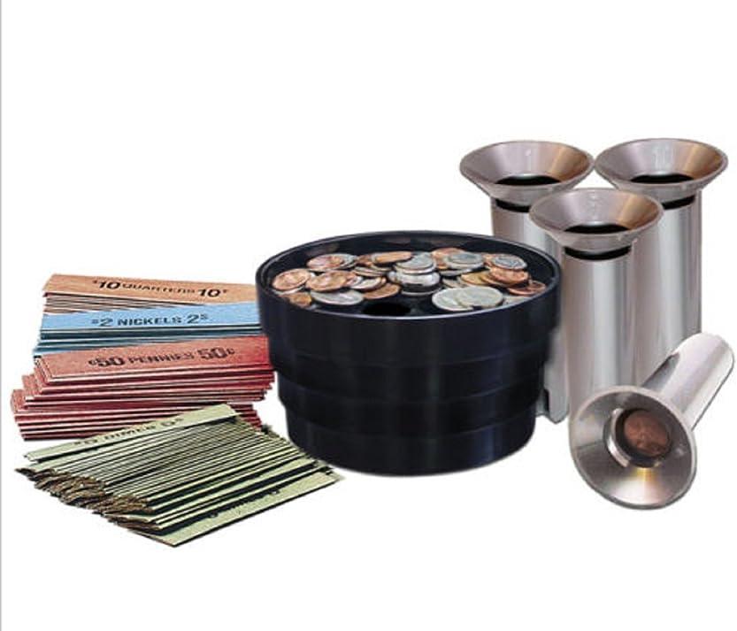 同情的グリットメイトコインソーターキットBank Money変更チューブロールラップPennies Quarters Nickels dimes