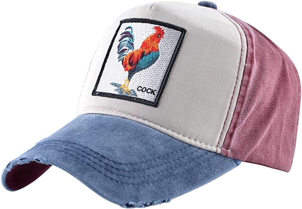 Unisex Animal Embroidered Max 45% OFF Baseball Our shop OFFers the best service Caps Strapback Patch D Square