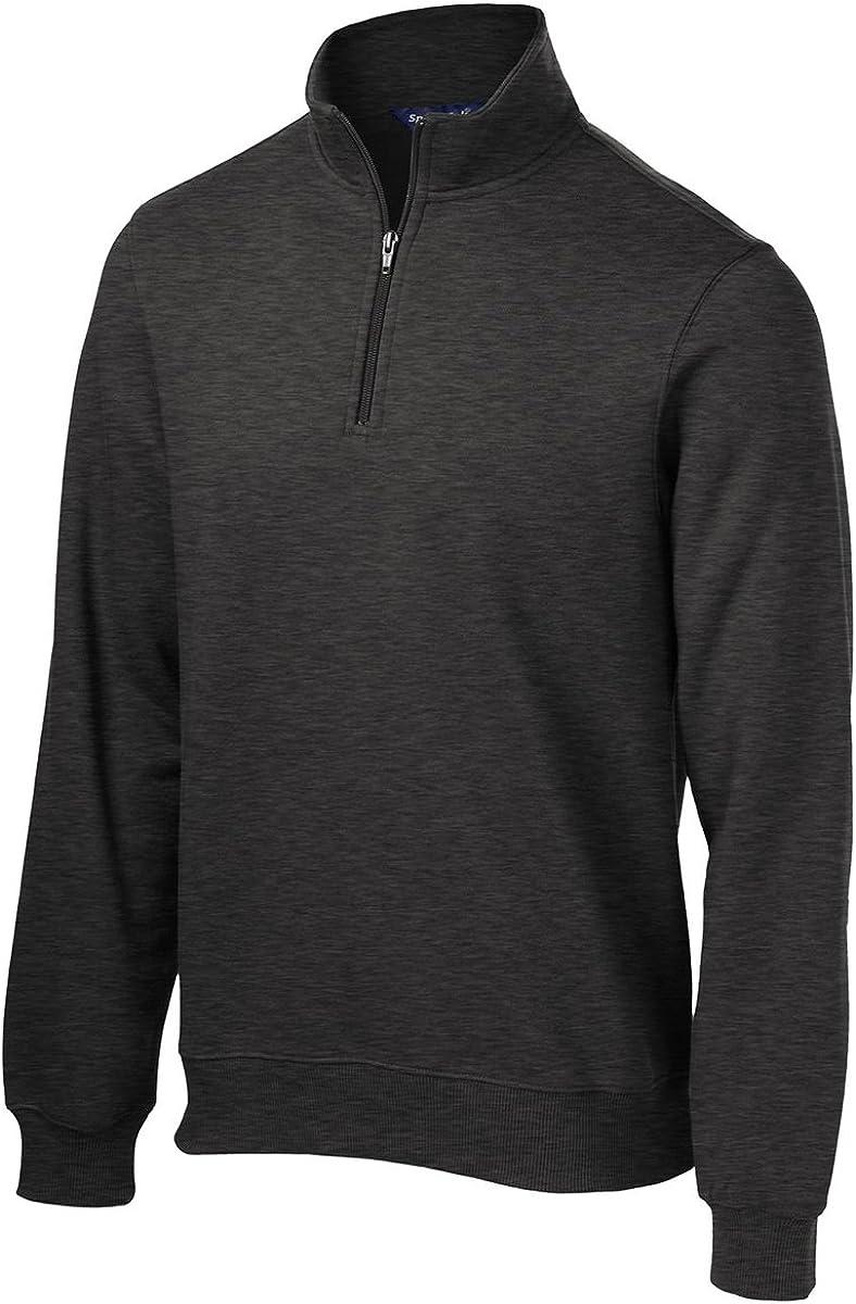 Sport-Tek Tall 1/4-Zip Sweatshirt, 3XLT, White