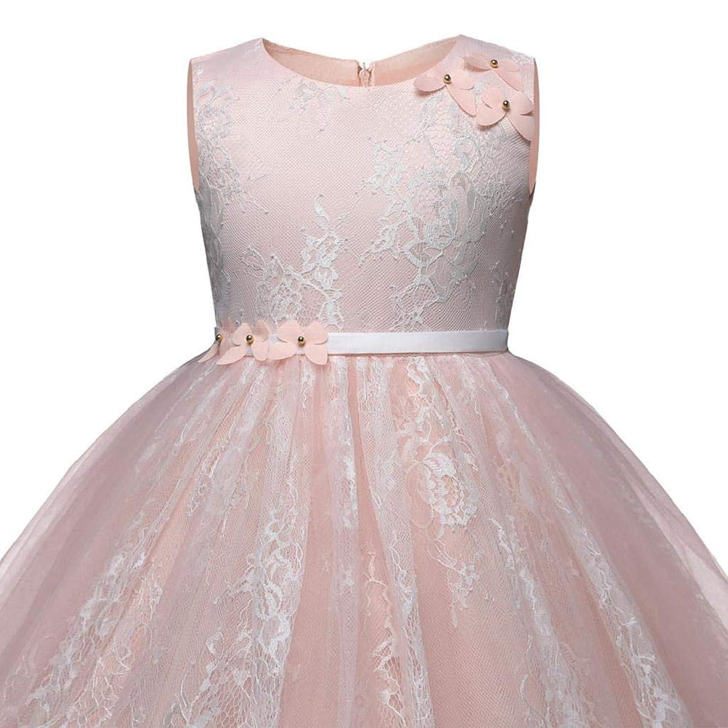 Kid Girl Cartoon Heart Print Bowknot Sleeveless Princess Dresse Clothes GUTTEAR