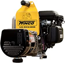 Winco Generators 16077-001 Model W3000H Lil' Dog Portable Generator, 3000W Starting, 2400W Running, 20A Running, Build with GC160 Engine, 3600 RPM Speed, 0.75 HP, 120V Single Phase
