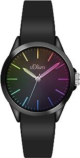 s.Oliver Unisex Analog Quarz Armbanduhr mit Silikonarmband SO-3197-PQ
