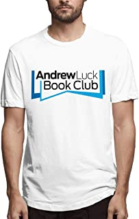 Wilhelm Men's Short Sleeve Andrew-Luck-Book-Club-Podcast Crew Neck T-Shirt