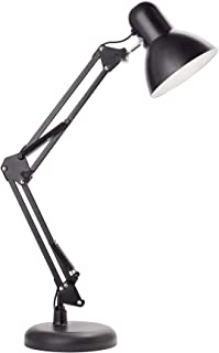 Newhouse Lighting NHDK-WR-BK Wright Architect LED Desk, Swing Arm Task Lamp, Dimmable Office Light, Black