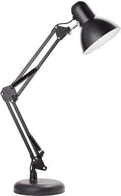 Newhouse Lighting NHDK-WR-BK Wright Architect LED Desk, Swing Arm Task Lamp, Dimmable Office Light, Black