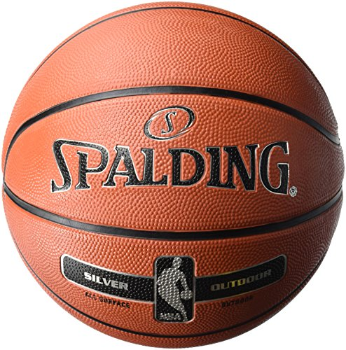 Spalding NBA Silver Basketball Ball, orange, 3