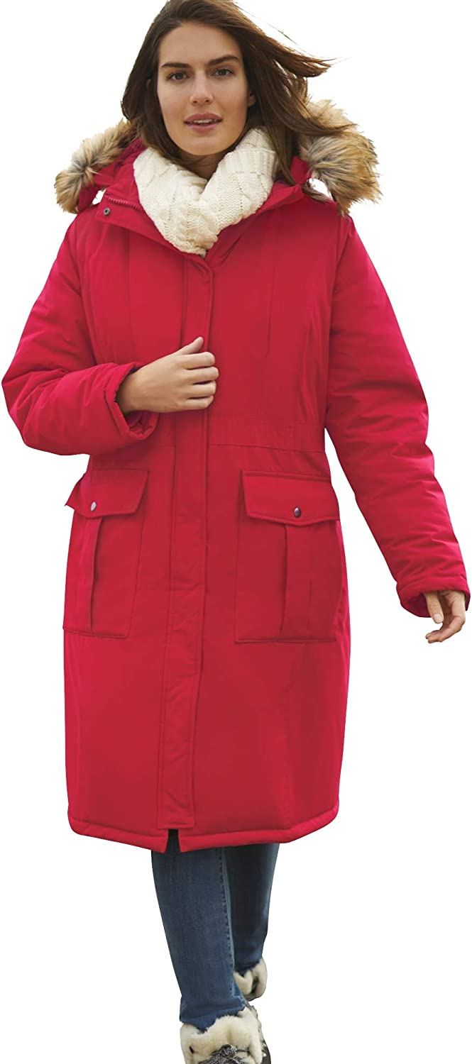 Woman Within Women's Plus Size The Arctic Parka In Knee Length Coat