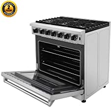 Thor Kitchen 36 inch Freestanding Pro-Style Professional Gas Range with 6.0 cu.ft. Oven, 6 Burners, in Stainless Steel - LRG3601U