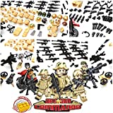inFUNity Army Minifigures Armor and Weapons Guns Military Gear Accessories Pack (267 PCS) Compatible with Lego Army Minifigure