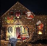 SmartHitech Luz de Proyector LED de Navidad, 4 Modos Iluminación Mágica Interior/Exterior, Lamn Lámpara Decoración Impermeable de Paisaje para Festival, Fiesta, Jardín, Vacaciones