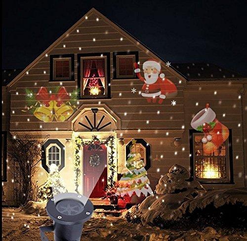 SmartHitech LED Projektor Licht, 4 Modi Weihnachten Magische Beleuchtung Innen/Draussen, Lamn Lampe Landschaft Wasserdichte Dekoration für Festival, Party, Garten, Urlaub