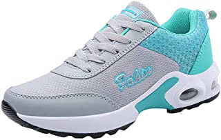 Qootent New Women Casual Walking Running Sneakers Air Mesh Sports Lace-Up Shoes