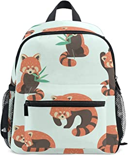 Mydaily Kids Backpack Cute Red Panda Nursery Bags for Preschool Children
