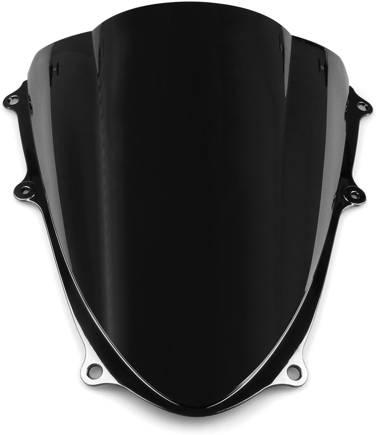 Areyourshop Windshield WindScreen Double Bubble For GSXR 1000 2009-2016 K9 Black