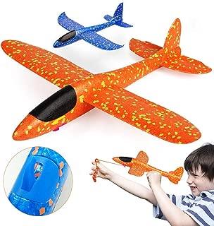 VCOSTORE 2 Flight Mode Slingshot Foam Airplanes for Kids, 14.4