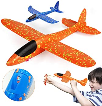 "VCOSTORE 2 Flight Mode Slingshot Foam Airplanes for Kids, 14.4"" Throwing Glider Plane Toys for Boys Girls Gift Age 3-..."
