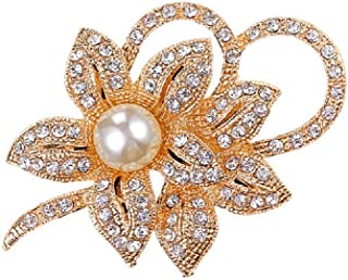 Daisy Jewelry Women's Crystal Vintage Orchid Flower Brooches Classy Fancy Brooch and Pins